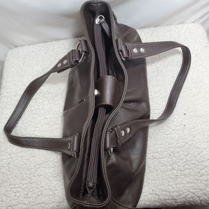 Chaps Bags - Chaps Chocolate Brown Leather Bag